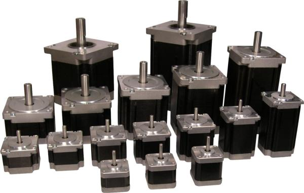 Lam technologies stepping motors control in motion for Nema stepper motor sizes