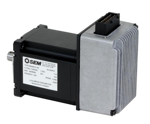integrated drive and motor is compact performer control