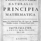 Title page of 'Principia', first edition (1687)